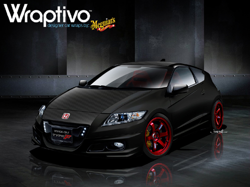 "Wraptivo Honda CR-Z ""Type F"" concept by RJ de Vera and Meguiars. Concept illustration by Jon Sibal"