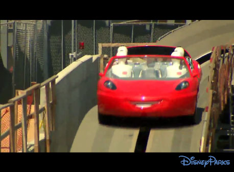 Radiator Springs Racers test footage before the ride opened at Disney's California Adventure