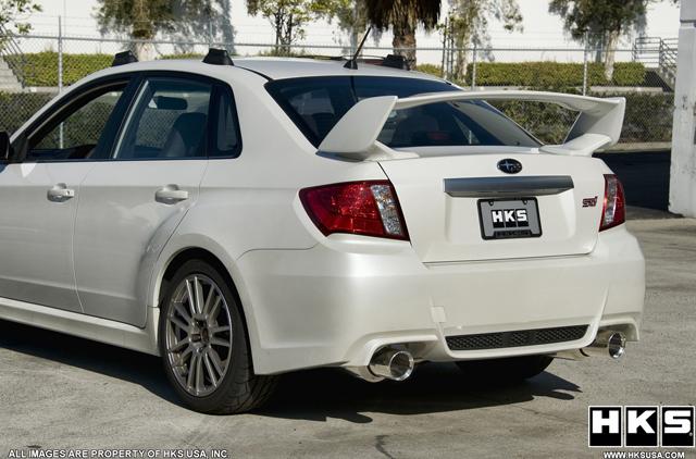 Hype HKS ES Premium Exhaust For Subaru WRX STi Sedan