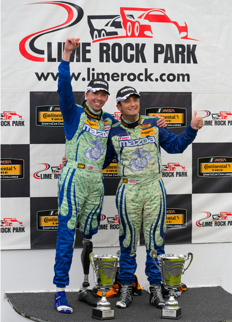 Liam Dwyer and Tom Long on Lime Rock Podium_small