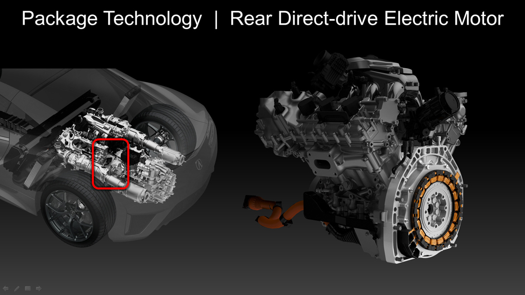 2017 Acura NSX - Rear Direct-Drive Motor Packaging.