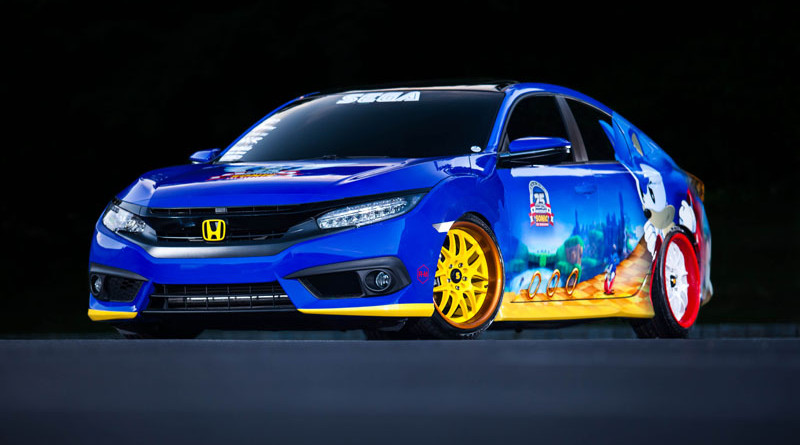 "Honda Debuts Custom-Designed ""Sonic Civic"" at Comic-Con; Joi"
