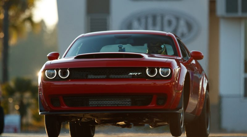 The 2018 Dodge Challenger SRT Demon is the world's first produ