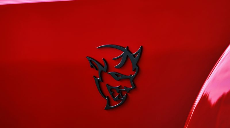 2018 Dodge Challenger SRT Demon fender logo.