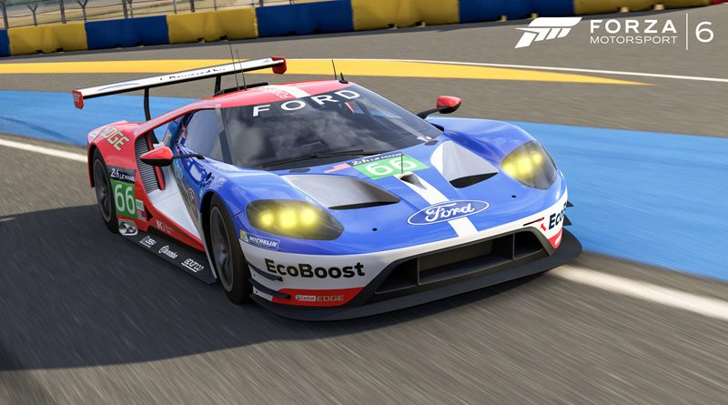 2016 Ford #66 Ford Racing GT Le Mans race car