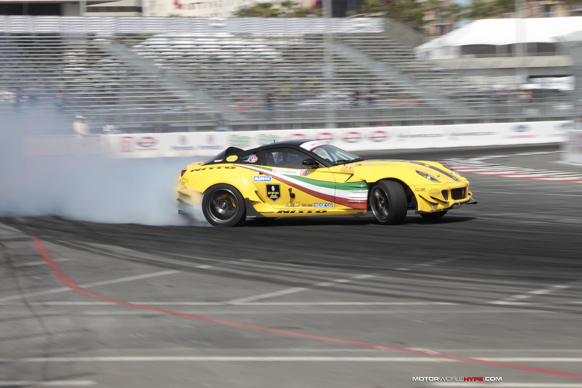 The Story Behind The Ferrari Drift Car Fire At Formula D Long Beach Motorworldhype