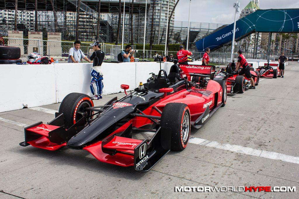 2017 Indy 500 Winner Takuma Sato and 2 seater indy car