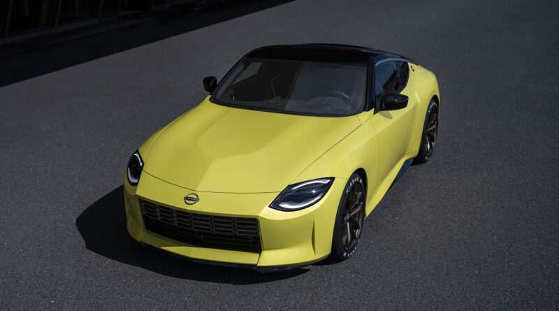 Nissan Z Proto top front view