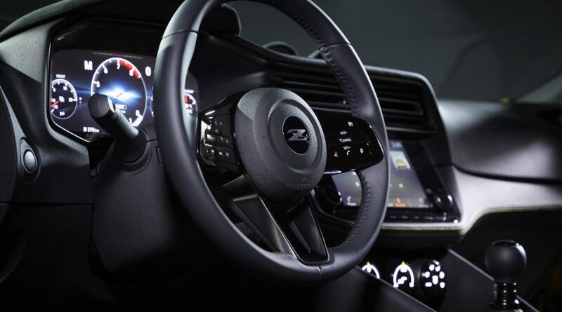 Nissan Z proto interior steering wheel