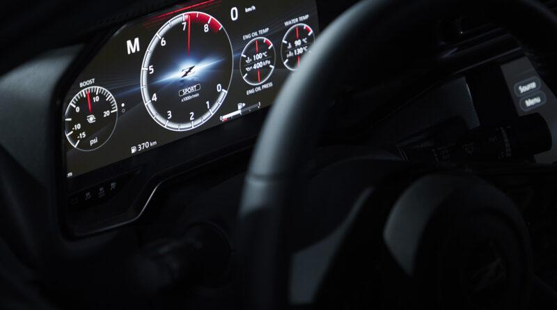 Nissan Z proto interior gauge cluster