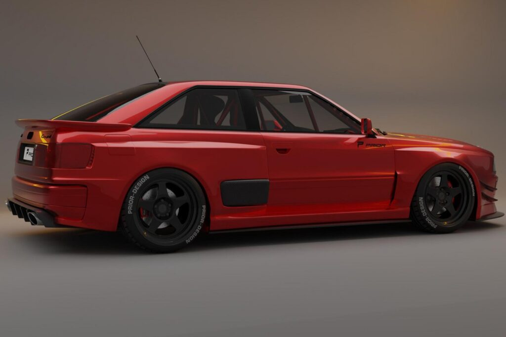 Prior Design Audi Coupe Project Widebody Kit rear side view