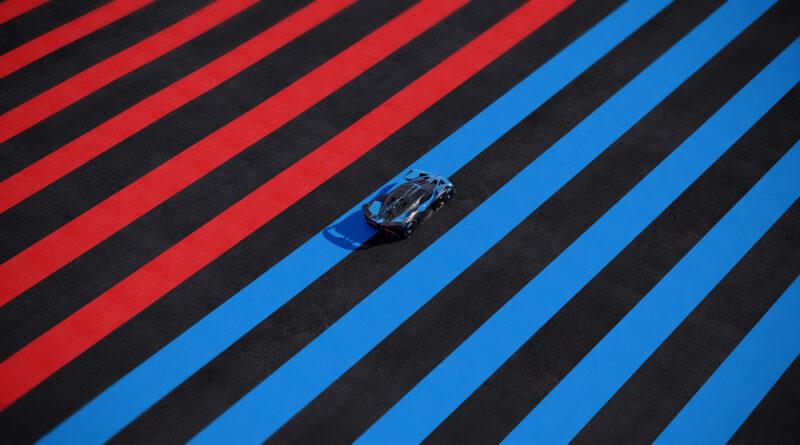 Bugatti Bolide top distance view