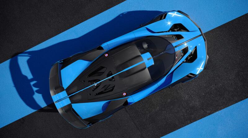 Bugatti Bolide top angled view