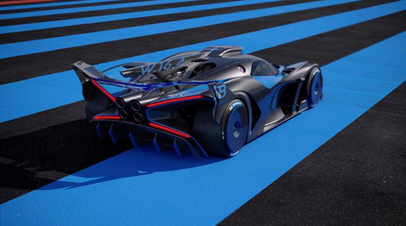 Bugatti Bolide rear perspective view