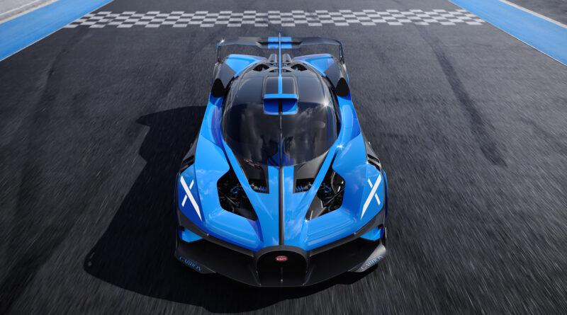 Bugatti Bolide front dynamic view