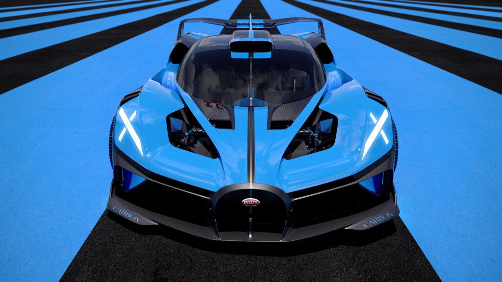 Bugatti Bolide front view close up