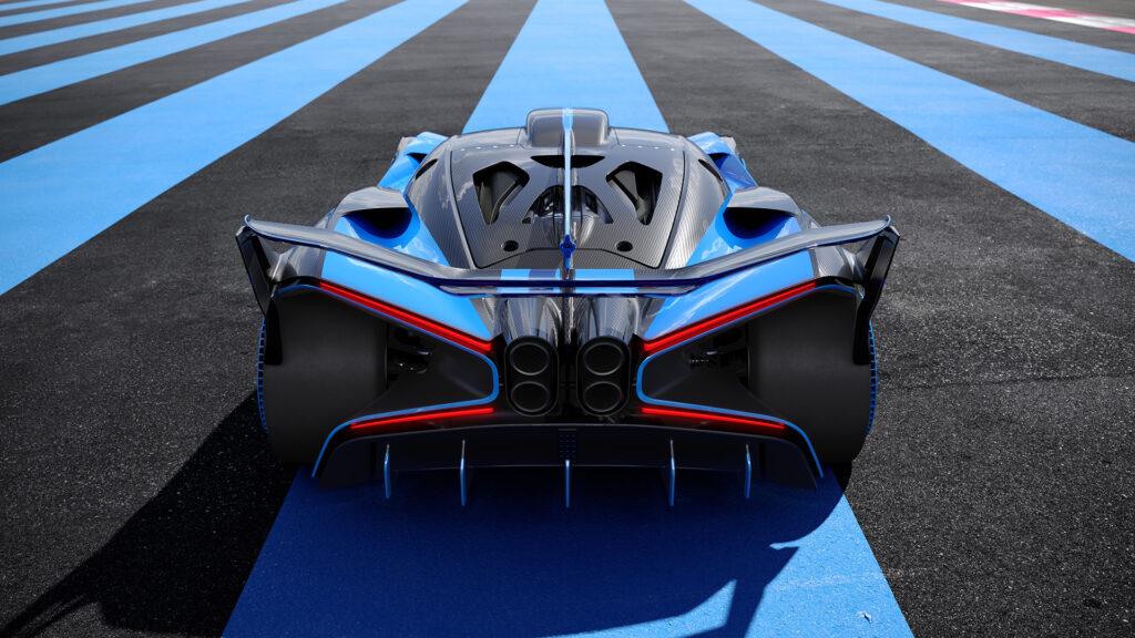 Bugatti Bolide rear view close up