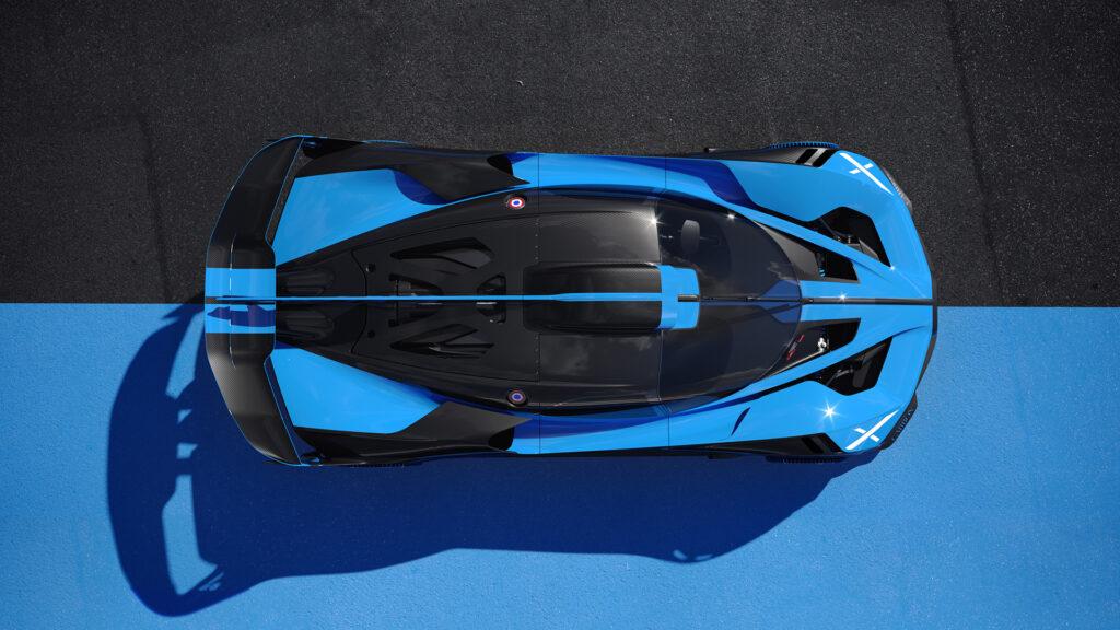Bugatti Bolide top horizontal view
