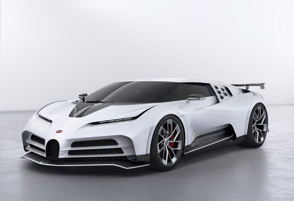 Bugatti Centodieci concept car front perspective view
