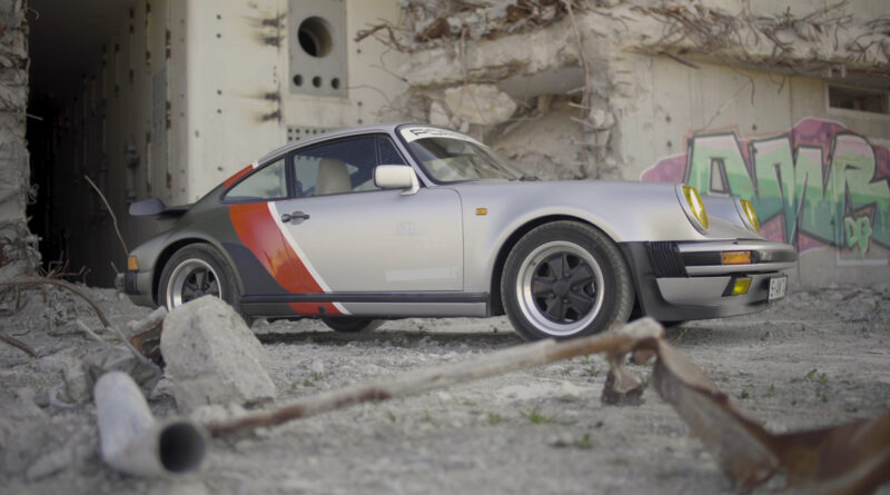 Cyberpunk 2077 real-live version of Johnny Silverhand's 1977 Porsche 911 Turbo. Side view