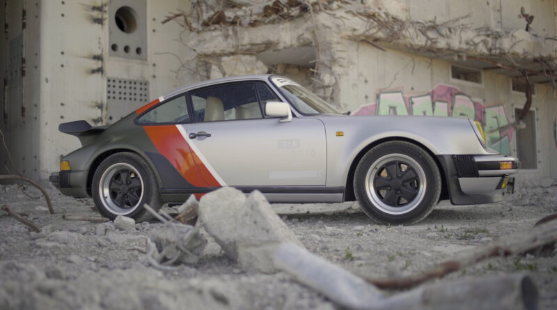 Cyberpunk 2077 real-live version of Johnny Silverhand's 1977 Porsche 911 Turbo. Side view close up