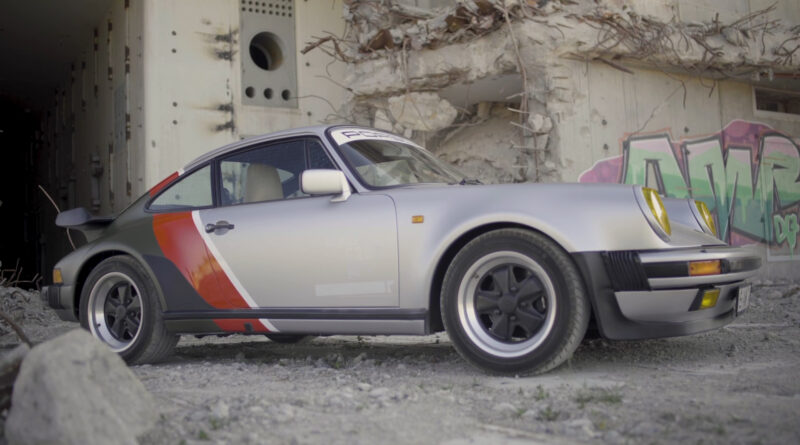 Cyberpunk 2077 real-live version of Johnny Silverhand's 1977 Porsche 911 Turbo. Livery view