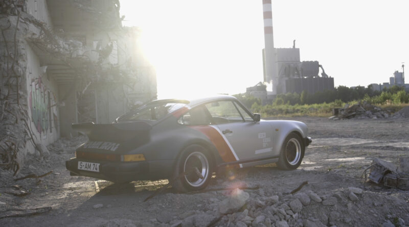 Cyberpunk 2077 real-live version of Johnny Silverhand's 1977 Porsche 911 Turbo. Rear view