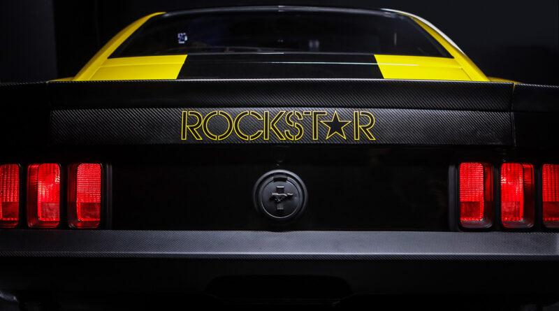 Cyberpunk 2077 Quadra Ford Mustang Built by Rockstar Performance Garage. Rear view