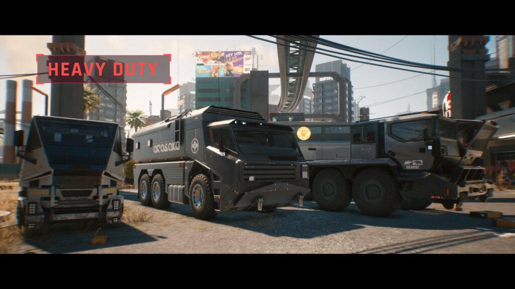 Cyberpunk 2077 heavy duty car class