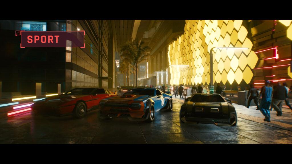 Cyberpunk 2077 sport car class