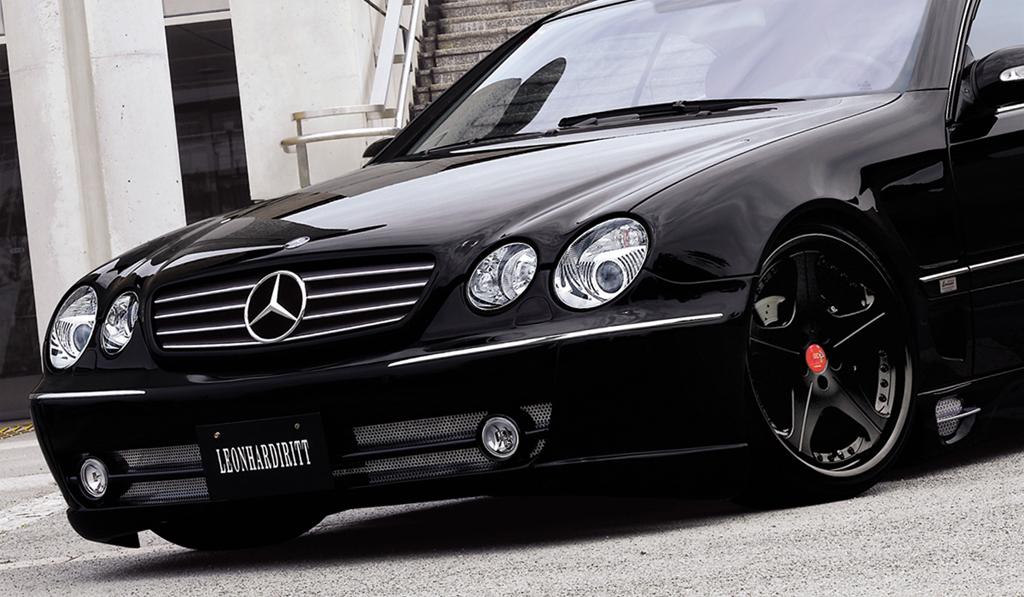 Leon Hardiritt Orden wheel in matte black finish on Mercedes Benz CL class