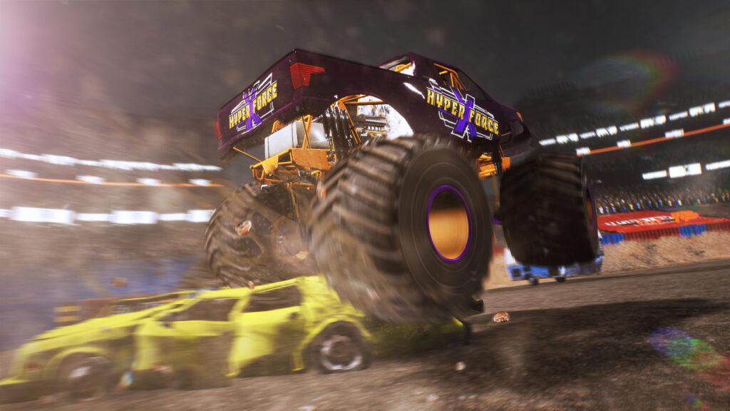 Monster Truck Championship screenshot. Monster truck crushing cars