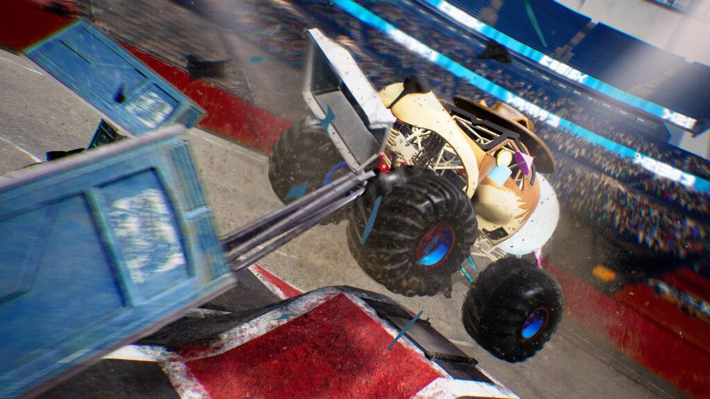Monster Truck Championship screenshot. Monster truck shaped like a dog