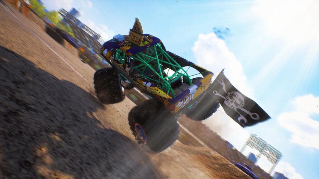 Monster Truck Championship screenshot. Monster truck tipping over