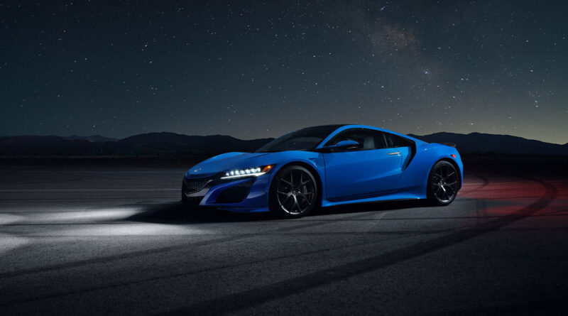 2021 Acura NSX with new Long Beach Blue Pearl paint