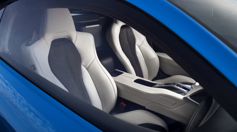2021 Acura NSX with new Long Beach Blue Pearl paint and white interior
