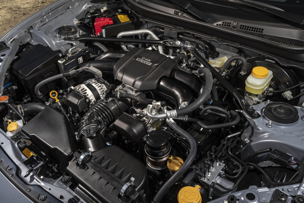 2022 Subaru BRZ engine bay