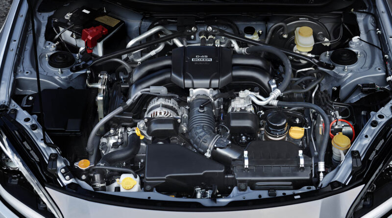 2022 Subaru BRZ engine bay over head view
