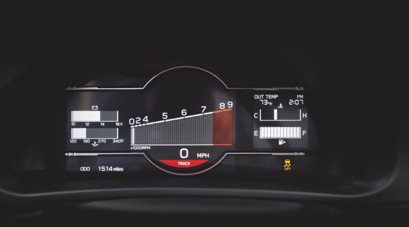 2022 Subaru BRZ digital gauge cluster track mode