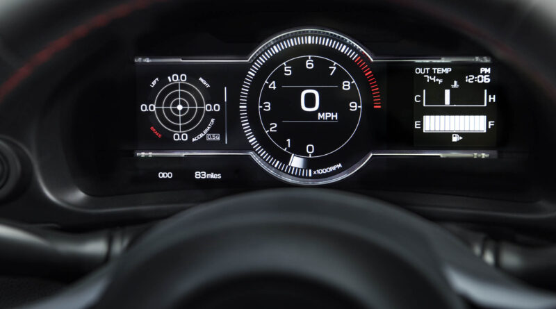 2022 Subaru BRZ digital gauge cluster g meter