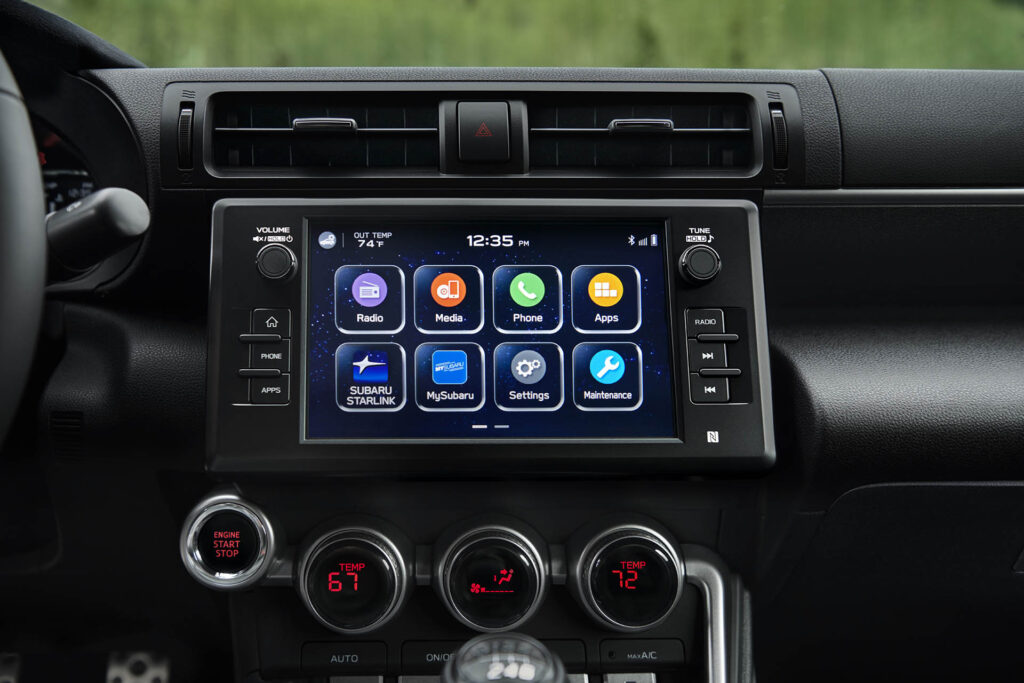 2022 Subaru BRZ infotainment touch screen