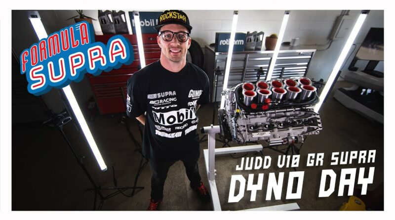 Ryan Tuerck visits JUDD in the UK to watch his JUDD V10 engine go on the dyno