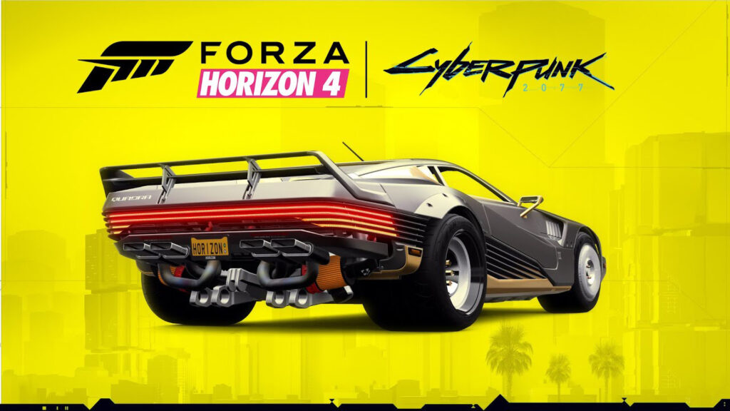 Cyberpunk 2077 2058 Quadra Turbo-R V-TECH car coming to Forza Horizon 4