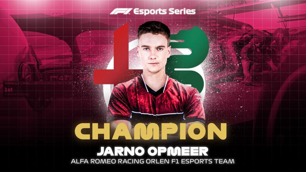 Jarno Opmeer crowned 2020 F1 Esports Pro Series champion