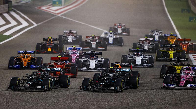 Formula 1 Sakhir Grand Prix opening lap