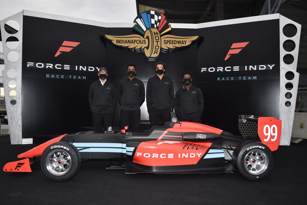 Rod Reid announces the Force Indy race team in an effort to bring more diversity to Indy Car
