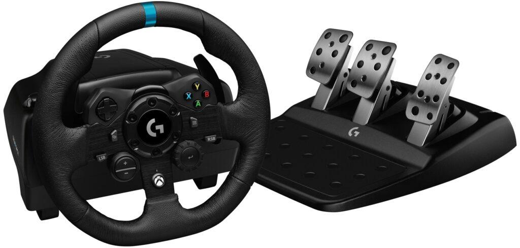 Logitech G923 steering wheel peripheral. Xbox version