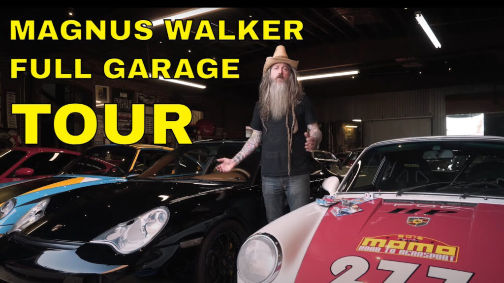 The Petersen Automotive Museum tours Magnus Walker's private Porsche collection