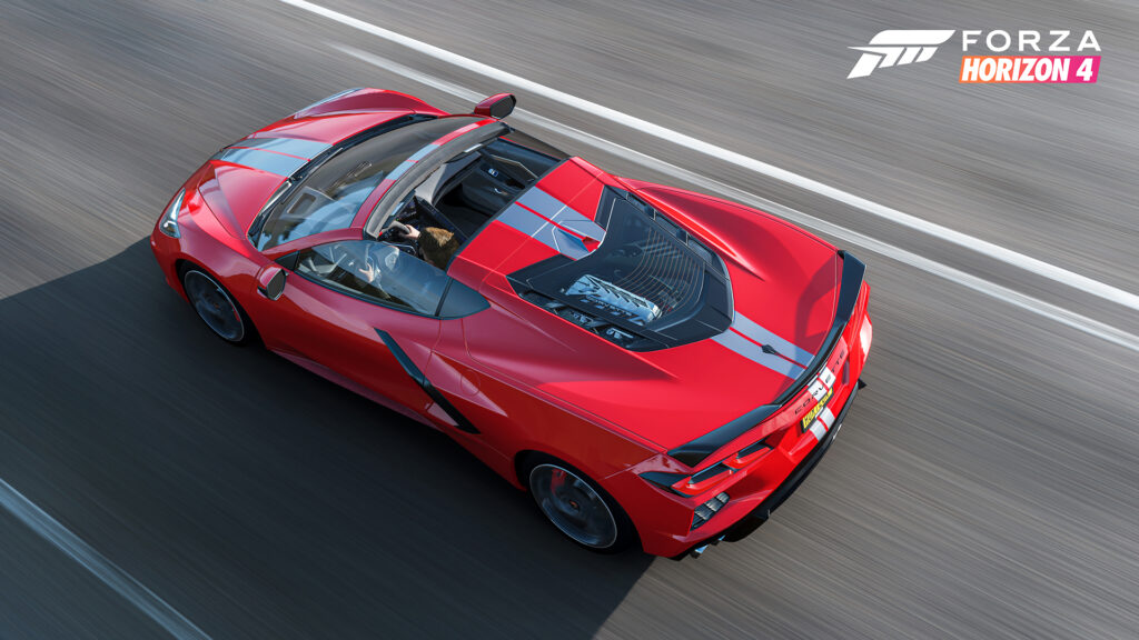 Forza will release the mid-engine Chevrolet Corvette Stingray – one of the world's most sought-after supercars – on the Forza Horizon 4 gaming platform.