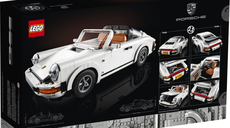 LEGO CREATOR Porsche 911 set 10295 box art rear
